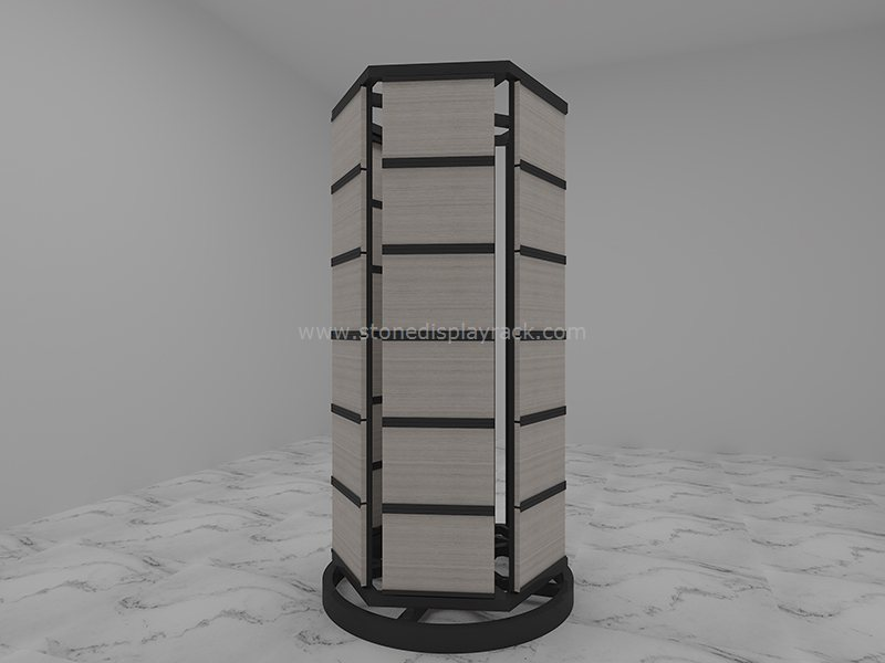 carousel sample display stand for stone quartz sdr 43-3