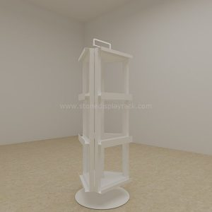 carousel stone quartz sample display stand rotate display 4