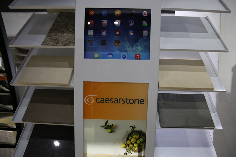 Marble Stone Sample Display Rack Quartz Display Stand With Ipad SDR-22 5
