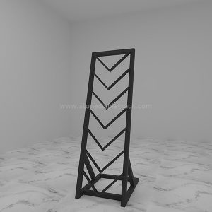 quartz stone waterfull sample display stand marble tower sdr-50-1