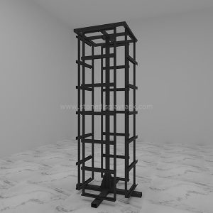 rotate sample display stand stone quartz carousel display tower sdr-52-1