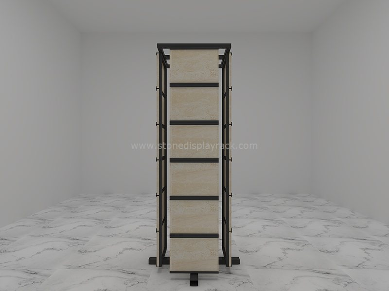 rotate sample display stand stone quartz carousel display tower sdr-52-8