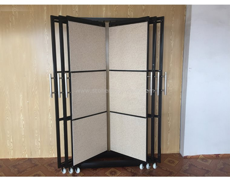 Exhibition Display Racks : Marble sample rotate display stand for showroom and exhibition sdr