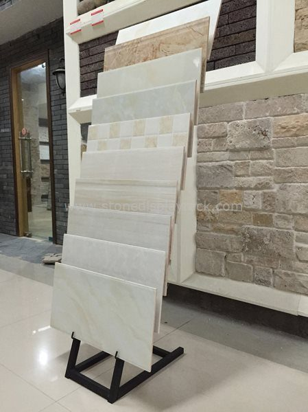 Simple Waterfull Stone Quartz Tile Sample Display Stand SDR-59 1