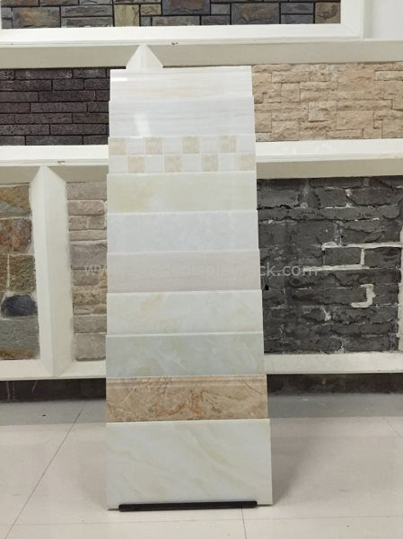 Simple Waterfull Stone Quartz Tile Sample Display Stand SDR-148 8
